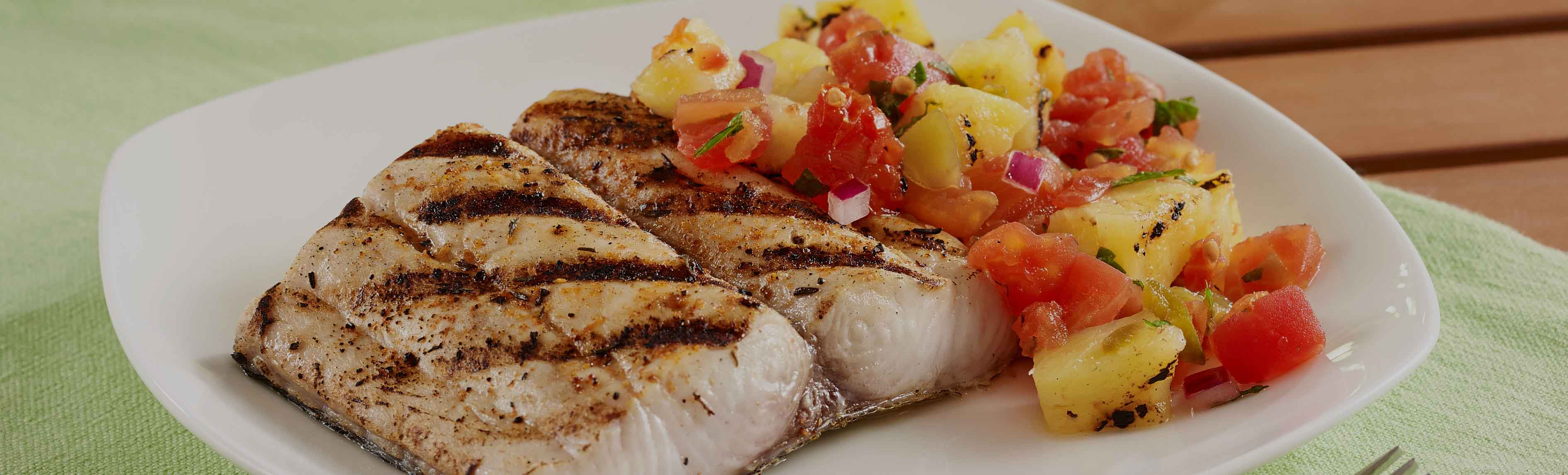 Grilled Mahi Mahi Fillets with Pineapple Salsa