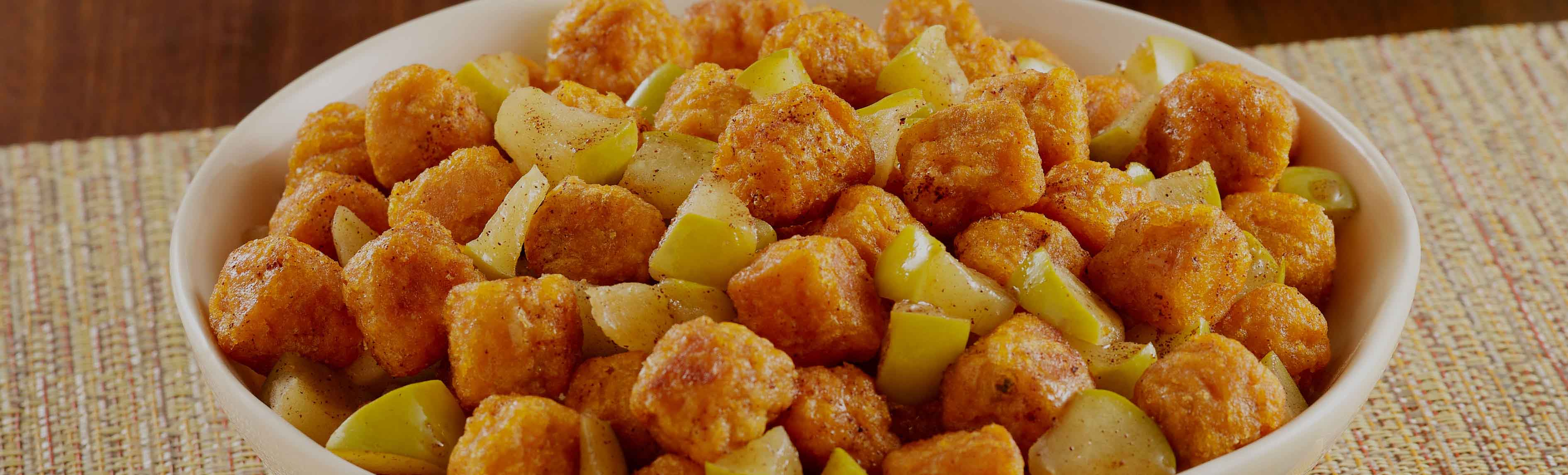 Sweet Potato Puffs with Apples