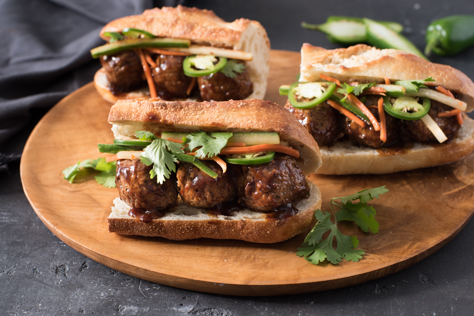 This meatless take on a classic Vietnamese sandwich is loaded with lots of fresh quick-pickled veggies.