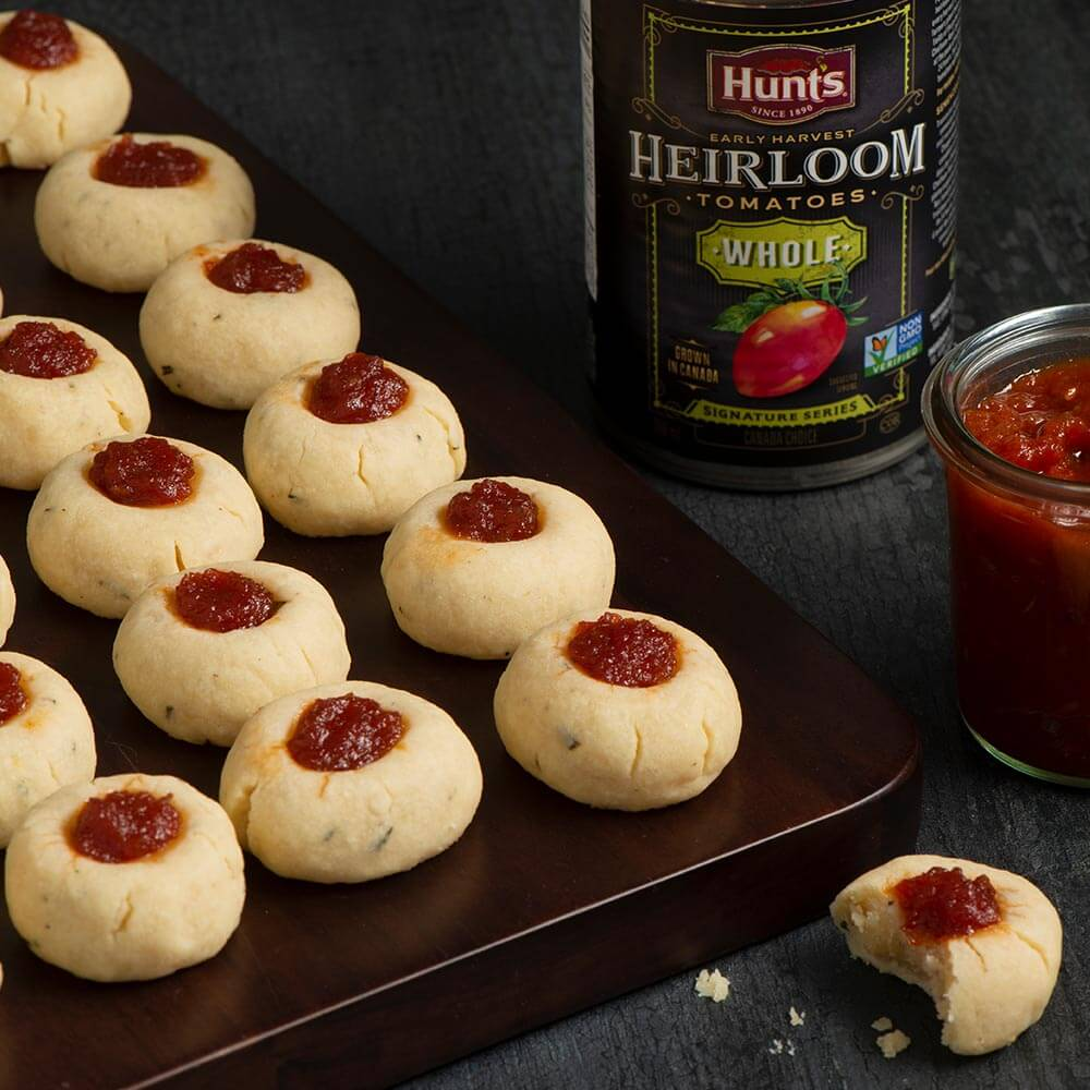 Savoury Thumbprint Cookies