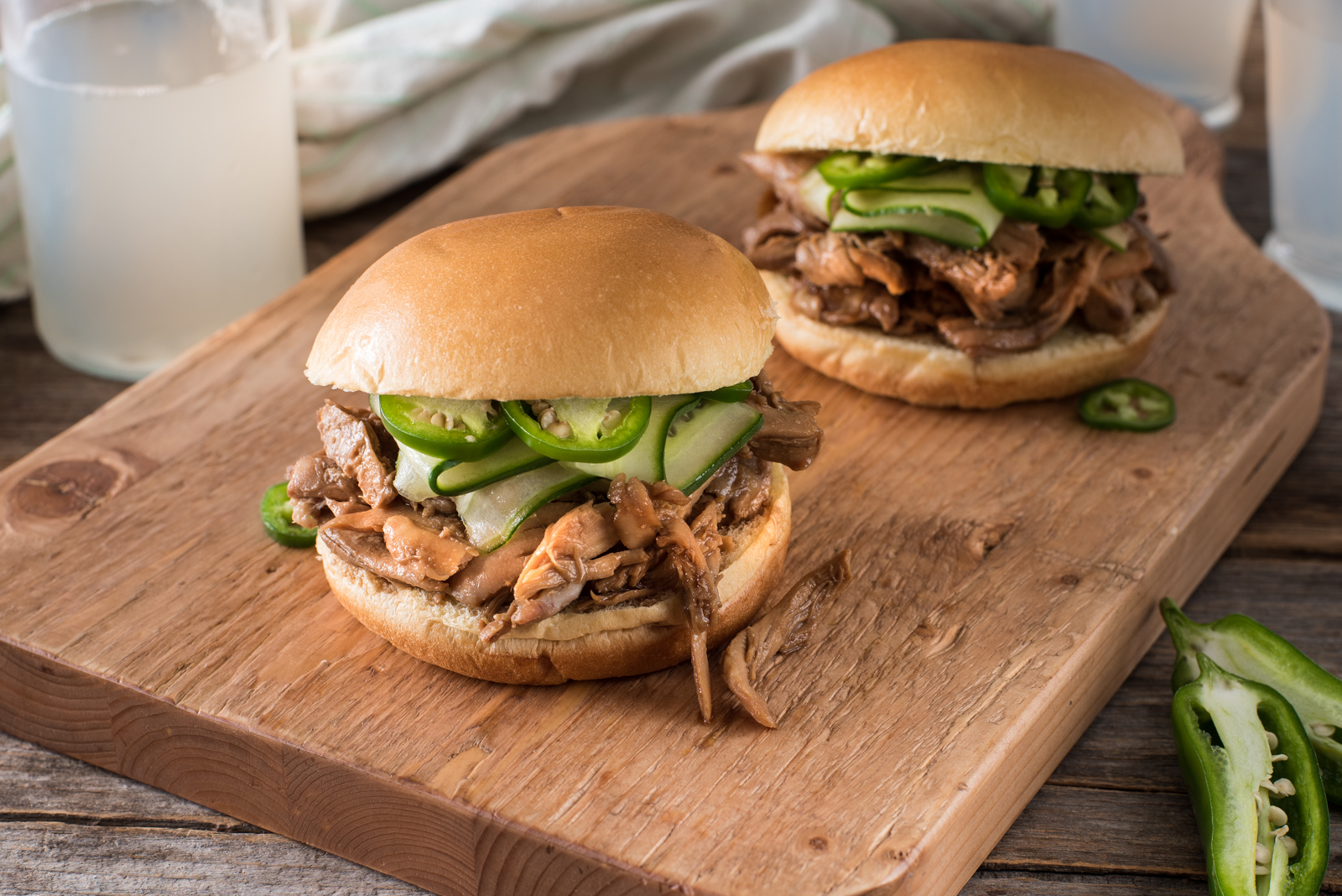 Prepared in the slow cooker, this Asian-inspired pulled chicken sandwich makes for an easy lunch or dinner that will please any hungry crowd.