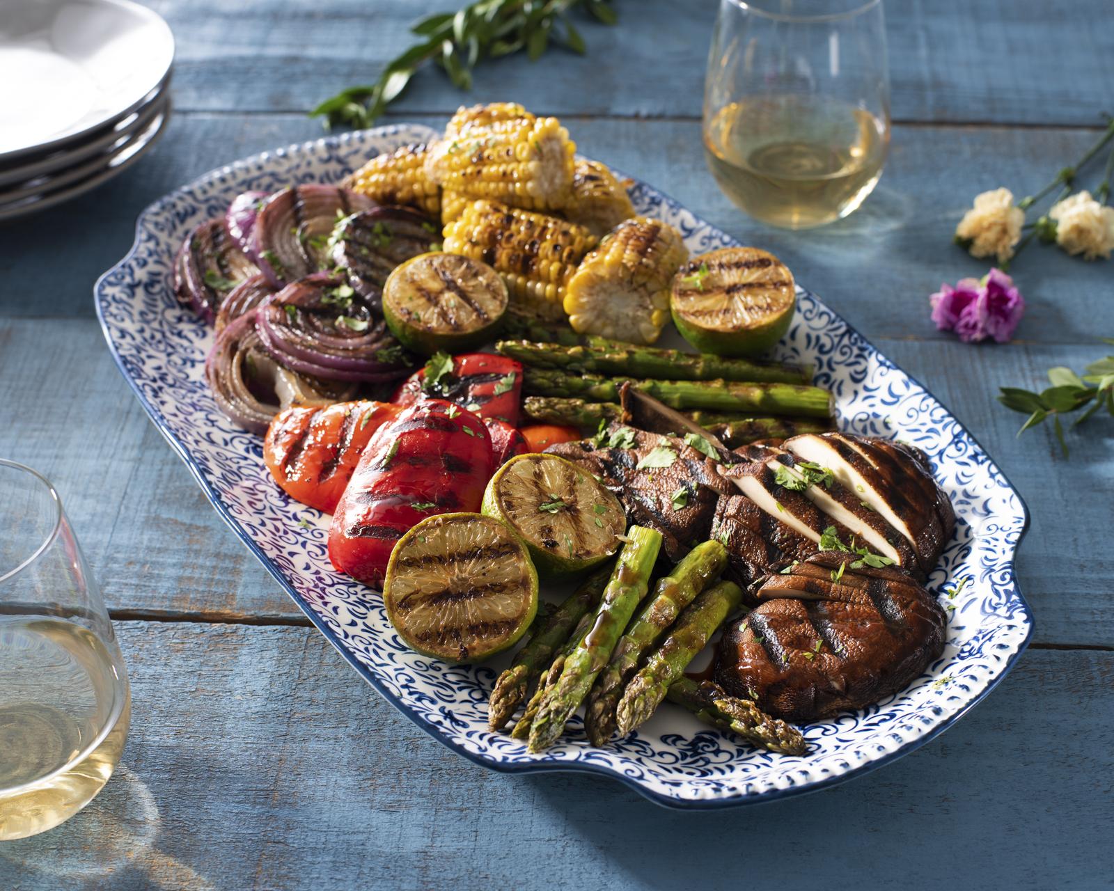 Grilled Teriyaki Mixed Veggie Platter Ready Set Eat