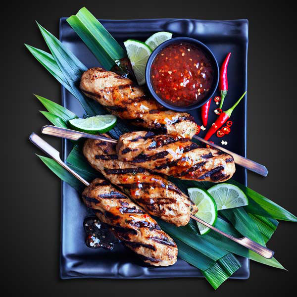Chicken Skewers with Thai Chili Sauce