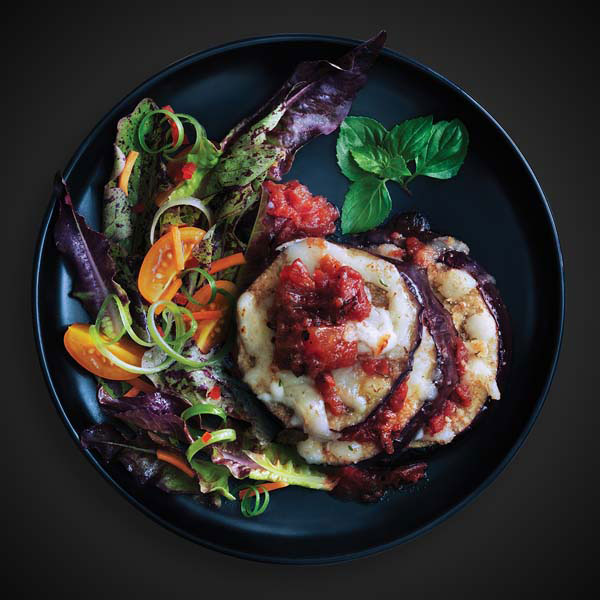 Eggplant Stacks with Tomato and Mozzarella