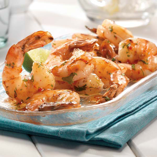 Grilled Shrimp with Spicy Chili Sauce