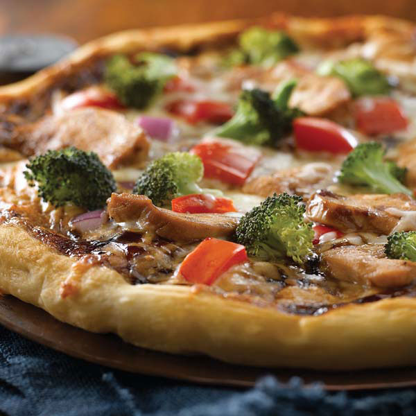 Pizza au poulet hoisin