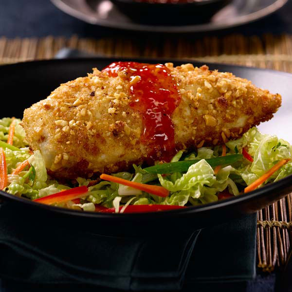 Peanut Crusted Chicken with VH® Sweet Thai Chili Sauce